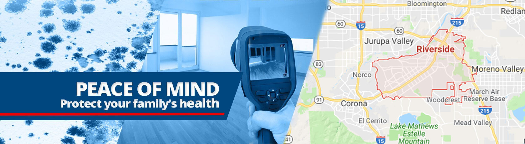 Riverside, California Mold Testing and Inspections
